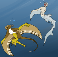 And Now With Fins by IchikoWindGryphon
