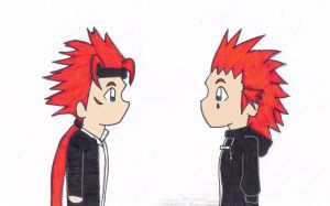 Axel and Reno Stare by Dark-Link-2391