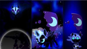 3 Nightmare Moon's by Macgrubor