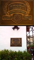 Painted Bronze Sign by TimBakerFX