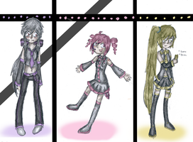Almost Vocaloids by halopanda