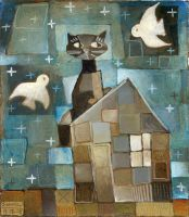 Cat On A Cold Tin Roof by usartdude