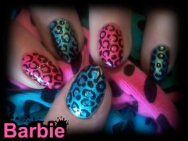 Mottled Nails by BarbieNailArt