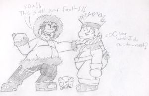 Fat Naruto and Kiba by jack07