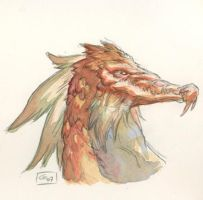Dragon Water color by Gabor-Bd