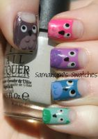 Adorable Owl Manicure by SamariumsSwatches