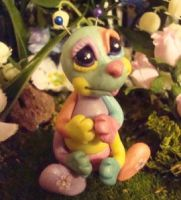 polymer clay catterpiller by crazylittlecritters