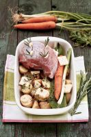 Lamb with spring veggies by kupenska