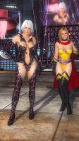 DOA5LR - Tina and Christie Fighter Force 04 by MomijiHayabusa
