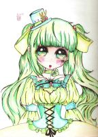loli sketch w/ color by Claire1998