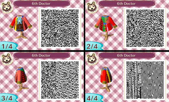 Sixth Doctor QR code pattern by HectorConCarne