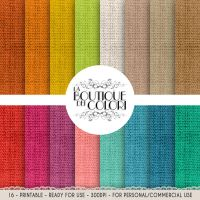 Complete Burlap Digital Paper Pack 12x12 Printable by KaipheArt