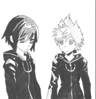 Roxas and Xion by Kyomora