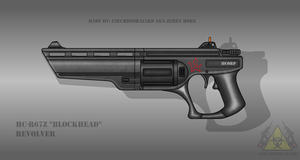 Fictional Firearm: HC-R67Z [Blockhead] Revolver by CzechBiohazard