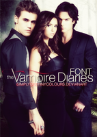 Vampire Diaries Font TV SERIE by SimplyDestinyColours