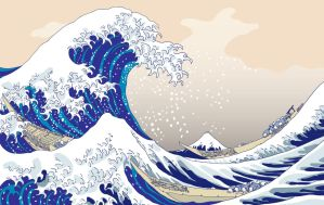 The Big Wave - Hokusai by gamba87