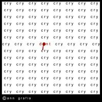 cry, cry by hissyfits