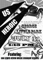 Us Heroic Band Poster by CapnEctoplasm