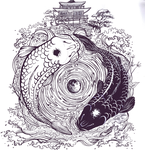 Yin and Yang fishies by VentriloquistBeast