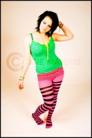 Carly Stripey tights by Casslass