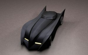 Low Poly Batmobile by Yowan2008