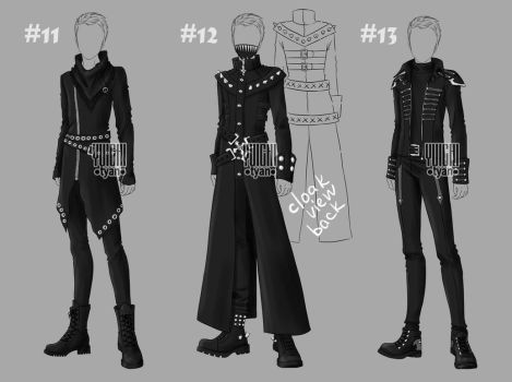 [closed] Auction BW Outfit men 11-13 by YuiChi-tyan
