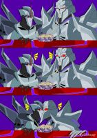TFP Starscream and Megatron by Clindra