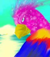 Bird of paradise speed paint by Whisper-of-a-phoenix