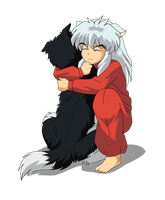 Inuyasha and His Dog by Inumaru101
