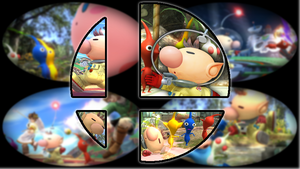 Ready to Smash: Pikmin and Olimar by Kirby-Kid