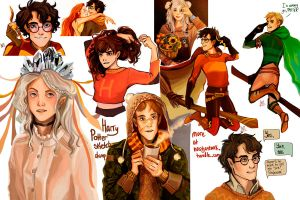 Harry Potter tumblr sketchdump by nastjastark