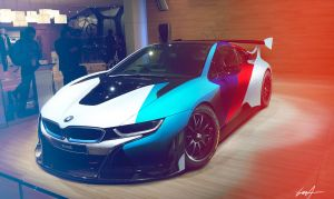 BMW i8 GT3 Concept front by Whitesnake16