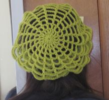 Grass Green Spider Web Slouchy Hat by PamGabriel
