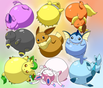 Inflated Eeveelutions by selphy6