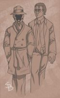 Rorschach and Nite Owl by Hikariforce