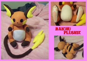 Custom Raichu Plushie by Lunarchik13