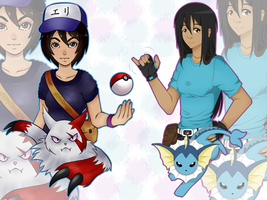 Art Trade - Pokemon Trainers by Zethya