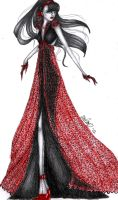 BlackRed Dress by Bdellian