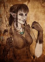 Elven sorceress by TheWildGrape