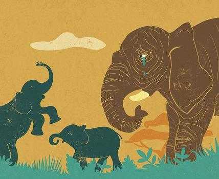 Cemetery elephants 2 by hanno