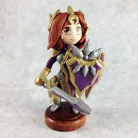 Leona League of Legends Sculpture by LeiliaK
