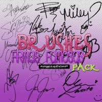 Pack Brushes Firmas de Famosos by StephHart