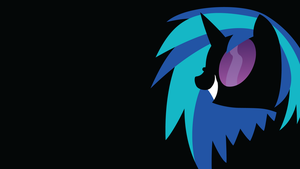 Vinyl Scratch (sihouette) by BluePedro