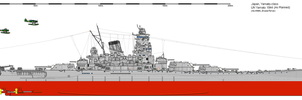 BB IJN Yamato 1944 As Planned by Erusia-Force