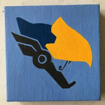 mini painting: Pharah by VIcTobious