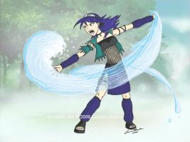 Water Weaving Jutsu by beachbumbunny