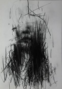 (6) Untitled Conte On Paper 35.5 X 26 2013 by ShinKwangHo