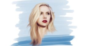 Scarlet Johanson Speed Paint by LuisFaus