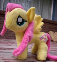 Funrise Pony Pattern - Finished Fluttershy 2 by Agony-Roses