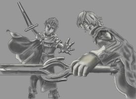 FE fan art value study by MumbleDragon